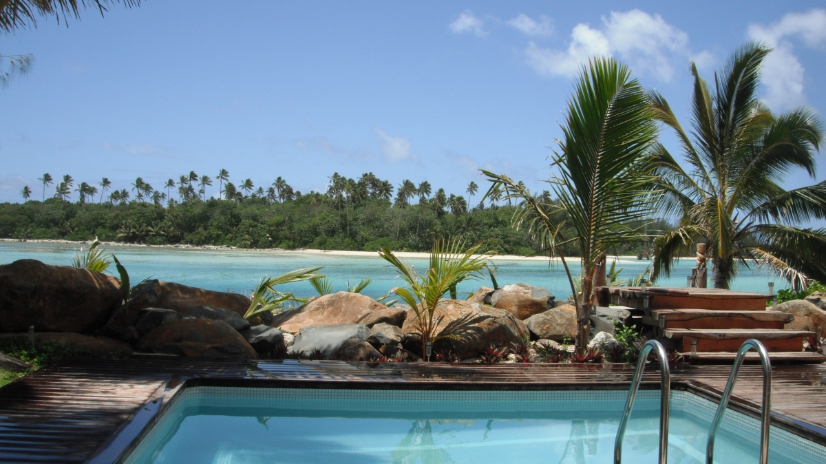 5. The view from the pool